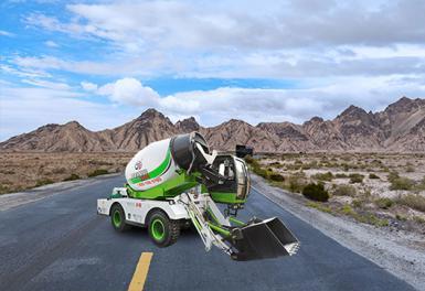自动搅拌车路面工程施工